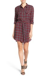 Kut From The Kloth Women's 'Ella' Plaid Belted Cotton Shirtdress