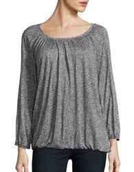 Michael Michael Kors Chevron Peasant Top Black