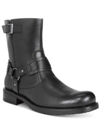 Unlisted By Kenneth Cole Men's Slightly Off Plain Toe Moto Boots Men's Shoes Black