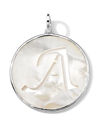 Ippolita Sterling Silver Lollipop Letter Charm Mother Of Pearl Doublet