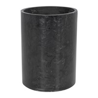 Amara Marbled Resin Toothbrush Holder Black