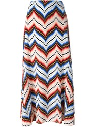 Kenzo Chevron Maxi Skirt Pink And Purple