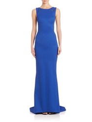 Zac Posen Sleeveless Bondage Jersey Gown Royal Blue