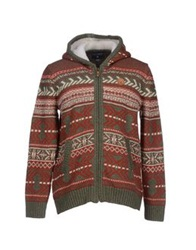Billabong Cardigans Brick Red