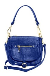 Erica Anenberg Noho Mini Leather Crossbody Bag Blue