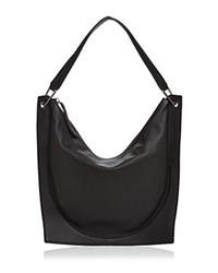 Dkny Leather Hobo Black Gunmetal