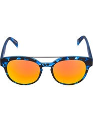Italia Independent Camouflage Print Sunglasses Blue