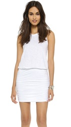 Sundry Ruched Dress White