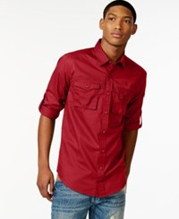 Sean John Flight Poplin Shirt Tango Red