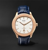 Piaget Polo S Automatic 42Mm 18 Karat Rose Gold And Alligator Watch Ref. No. G0a43010 White
