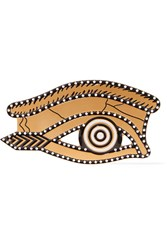 Givenchy Brooch In Brushed Gold Tone And Enamel