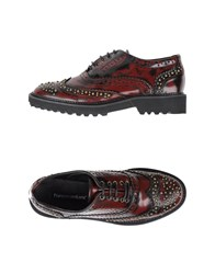 Francesco Milano Footwear Lace Up Shoes Women Maroon