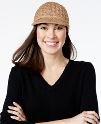 Calvin Klein Honeycomb Cable Cabbie Hat Heathered Almond