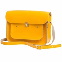 N'damus London Lemon 13 Inches Pocket Satchel Yellow Orange