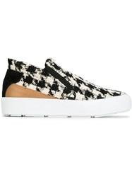 Msgm Houndstooth Pattern Sneakers Black