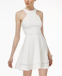 B. Darlin B Juniors' Racerback Fit And Flare Dress Off White Off White