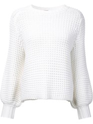 Adam By Adam Lippes Waffle Knit Jumper Women Cotton Xs White