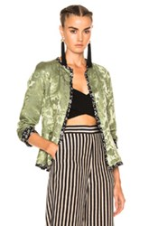 Etro Floral Lined Jacket In Floral Green Floral Green