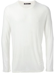 T By Alexander Wang Round Neck Sweater White