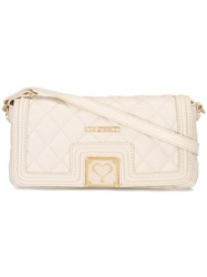 Love Moschino Quilted Clutch Nude Neutrals