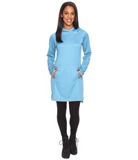 Exofficio Tatra Hooded Dress Niagara Women's Long Sleeve Pullover Blue