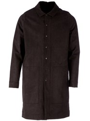 L'eclaireur Structured Overcoat Black