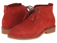 Hush Puppies Cyra Catelyn Dark Orange Suede Women's Lace Up Boots