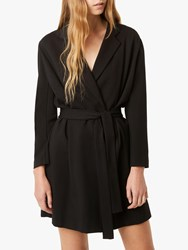 French Connection Sadira Wrap Dress Black