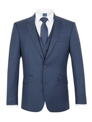 Aston And Gunn Oxenhope Sharkskin Tailored Jacket Blue