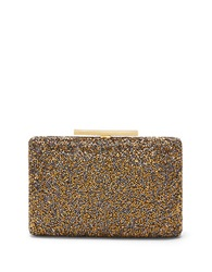 Vince Camuto Luv Beaded Minaudiere Metallic