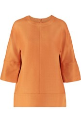 Marni Wool And Silk Blend Top Camel