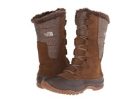 The North Face Nuptse Purna Desert Palm Brown Feather Grey Women's Cold Weather Boots