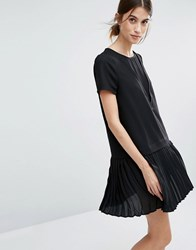 Vero Moda Pleated Drop Waist Dress Black