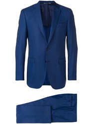 Canali Tailored Slim Fit Suit Blue