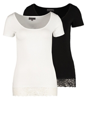 Zalando Essentials 2 Pack Tshirt Basic Tshirt Black White