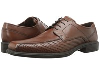 Ecco Johannesburg Perforated Tie Mink Men's Lace Up Bicycle Toe Shoes Brown