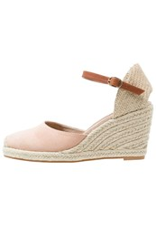 Pier One Wedge Sandals Pink Rose