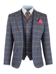 Gibson Men's Blue And Tan Check Jacket Blue