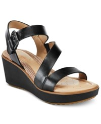 Easy Spirit Isandra Platform Sandals Women's Shoes Black