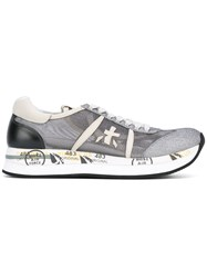 Premiata Printed Sole Sneakers Grey