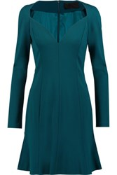 Cushnie Et Ochs Stretch Jersey Mini Dress Teal