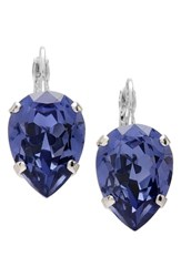 L. Erickson Women's 'Scarlett' Teardrop Earrings Tanzanite Silver