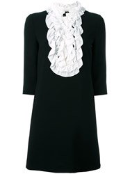 Boutique Moschino Ruffled Bib Dress Black