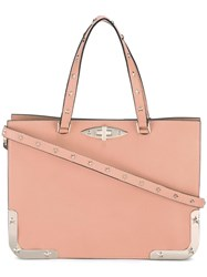 Red Valentino Metallic Detail Tote Pink Purple