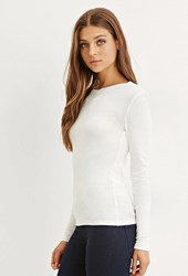 Forever 21 Classic Cotton Tee Ivory