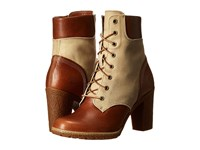 Timberland Glancy 6 Boot Buckthorne Brown Full Grain With Dark Tan Waxed Canvas Women's Lace Up Boots