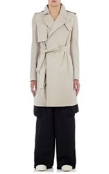 Rick Owens Men's Lightweight Canvas Trench Coat Nude
