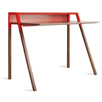 Blu Dot Cant Desk Grey Red