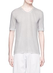 The Viridi Anne Centre Seam Cotton T Shirt Grey