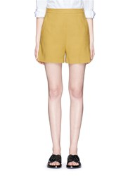 Theory 'Tarrytown' Hopsack Shorts Yellow